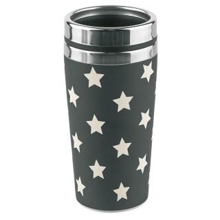 Mug thermos Etoiles - 500 ml - Noir et blanc