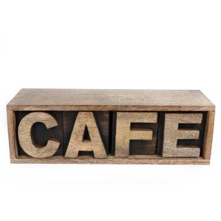 Boîte de rangement Café - 30 x 10 cm - Café