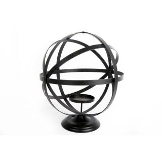 Bougeoir style Globe - Diam. 30 cm - Noir