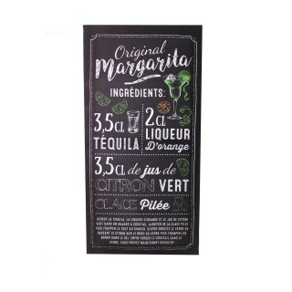 Toile murale recette cocktail - 20 x 50 cm - Margarita