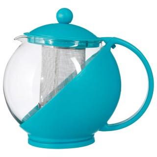 Théière avec filtre Colorée - 1,25 L - Bleu