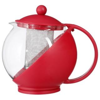 Théière avec filtre Colorée - 1,25 L - Rouge