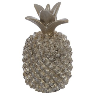 Ananas décoratif en résine - 19 cm - Champagne