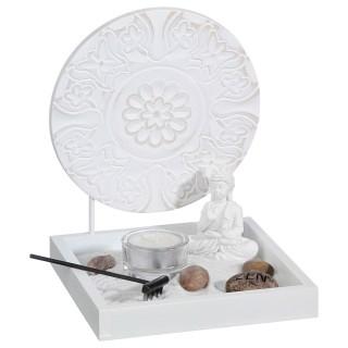 Jardin zen avec Panneau - 15 x 18 cm - Blanc