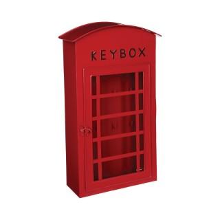 Boîtes à clés London - 20 x 40 cm - Rouge