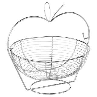 Corbeille à fruits Pomme - H. 33 cm - Argent