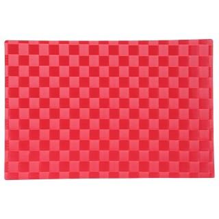 Set de table Carrés - 45 x 30 cm - Rouge