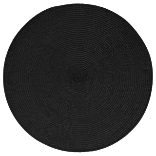 Set de table Tressé Rond - Diam. 38 cm - Noir