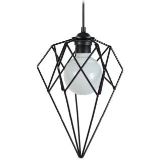 Suspension Géométrique - H. 90 cm - Noir