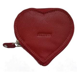 Porte monnaie cœur à zippe - Rouge
