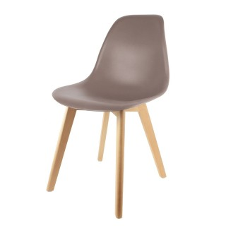 Chaise scandinave Coque - H. 83 cm - Taupe