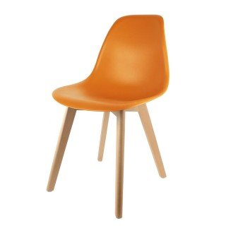 Chaise scandinave Coque - H. 83 cm - Orange