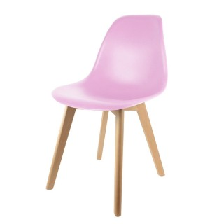 Chaise scandinave Coque - H. 83 cm - Rose