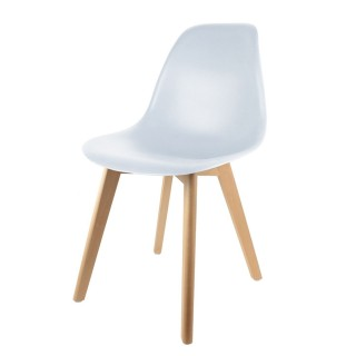 Chaise scandinave Coque - H. 83 cm - Blanc