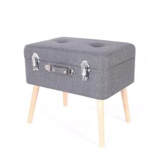 Coffre-valise de rangement - 48 x 38 cm - Gris foncé
