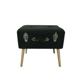 Coffre-valise de rangement - 48 x 38 cm - Noir