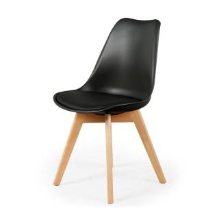 Chaise scandinave avec cousin - H. 83 cm - Noir
