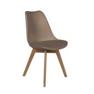 Chaise scandinave avec cousin - H. 83 cm - Taupe