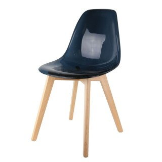 Chaise scandinave transparente - H. 86 cm - Noir