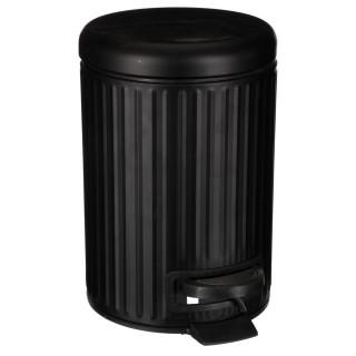Poubelle Strié - 3 L - Noir