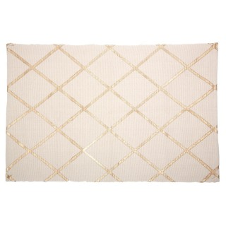 Tapis d'entrée Mademoiselle - 90 x 60 cm - Blanc