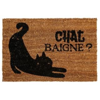 Paillasson Animaux - 60 x 40 cm - Chat baigne