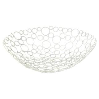Corbeille à fruits Métal - Diam. 31 cm - Blanc