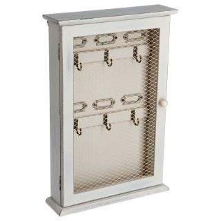 Boîte à clés Campagne - H. 33 cm - Blanc