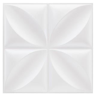 Sticker carrelage Fleur - 4C X 6 - Blanc