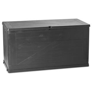 Coffre de rangement Wood - 420 L - Gris