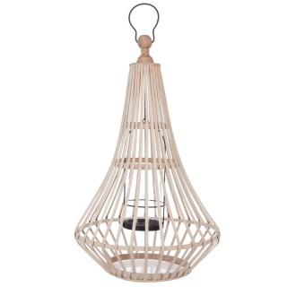 Lanterne Rattan - Diam. 36 cm - Beige