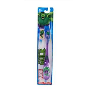 Brosse à dents Junior 6 ans et + - Souple - Hulk Marvel
