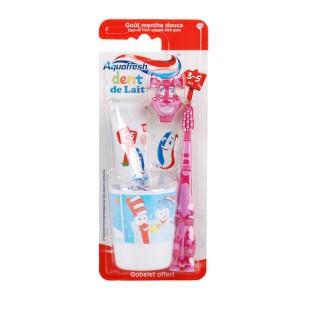 Kit dentaire pour enfant 3-5 ans Popsy - Spécial Dents de lait - Rose Aquafresh