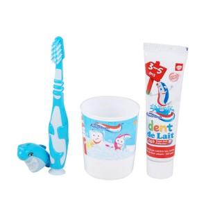 Kit dentaire pour enfant 3-5 ans Popsy - Spécial Dents de lait - Bleu Aquafresh