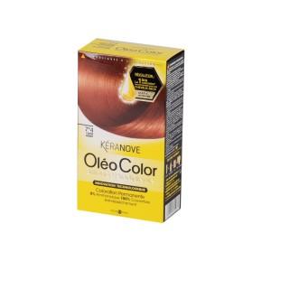 Oléo Color Coloration Permanente - 7*4 Cuivré Ardent Kéranove
