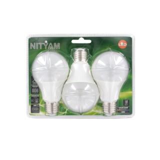 3 Ampoules LED Globe E27 - 9W