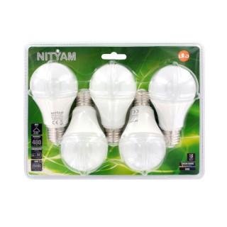 5 Ampoules LED Globe E27 - 6W