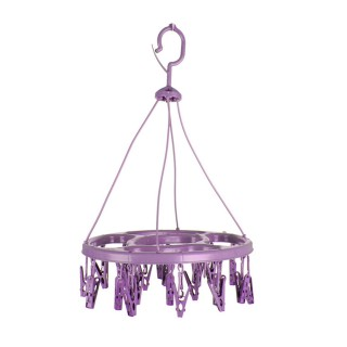 Séchoir pour sous-vêtements oval à suspendre - 24 Pinces - Violet