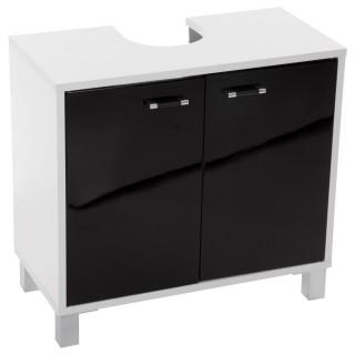 Meuble dessous de lavabo Glossy - H. 60 cm - Noir