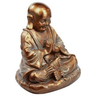 Statue de Bouddha position assis - H. 53 cm - Cuivre