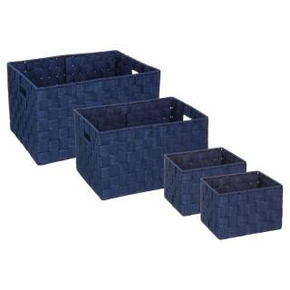 4 Paniers de rangement - Bleu Marine