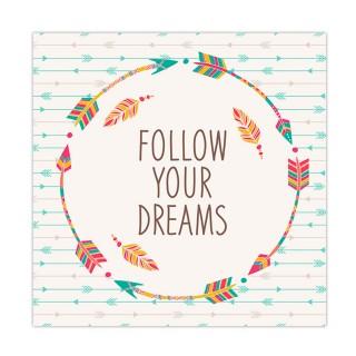 Cadre flèches - 30 x 30 cm - Follow your dreams