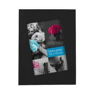 Cadre photo à poser Biais - 15 x 20 cm - Noir