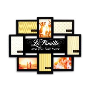 Pêle-mêle 8 Photos La famille - 55 x 44 cm - Noir