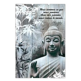 Cadre Bouddha - 40 x 60 cm - Nous somme ce que nous pensons