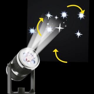 Projecteur LED déco de Noël - 2/3 m de projection - Etoiles