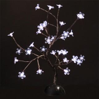 Arbre lumineux Prunus - H. 40 cm - Blanc