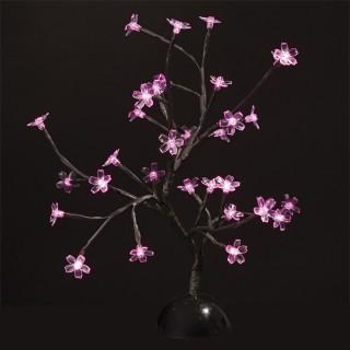 Arbre lumineux Prunus - H. 40 cm - Rose
