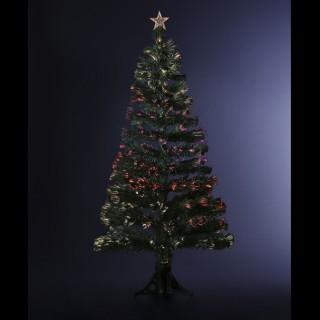 Sapin de Noël artificiel à LED - H. 120 cm - Vert