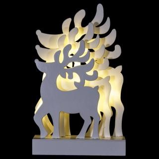 Décoration lumineuse de Noël - 15 x 6 x 24 cm - Rennes